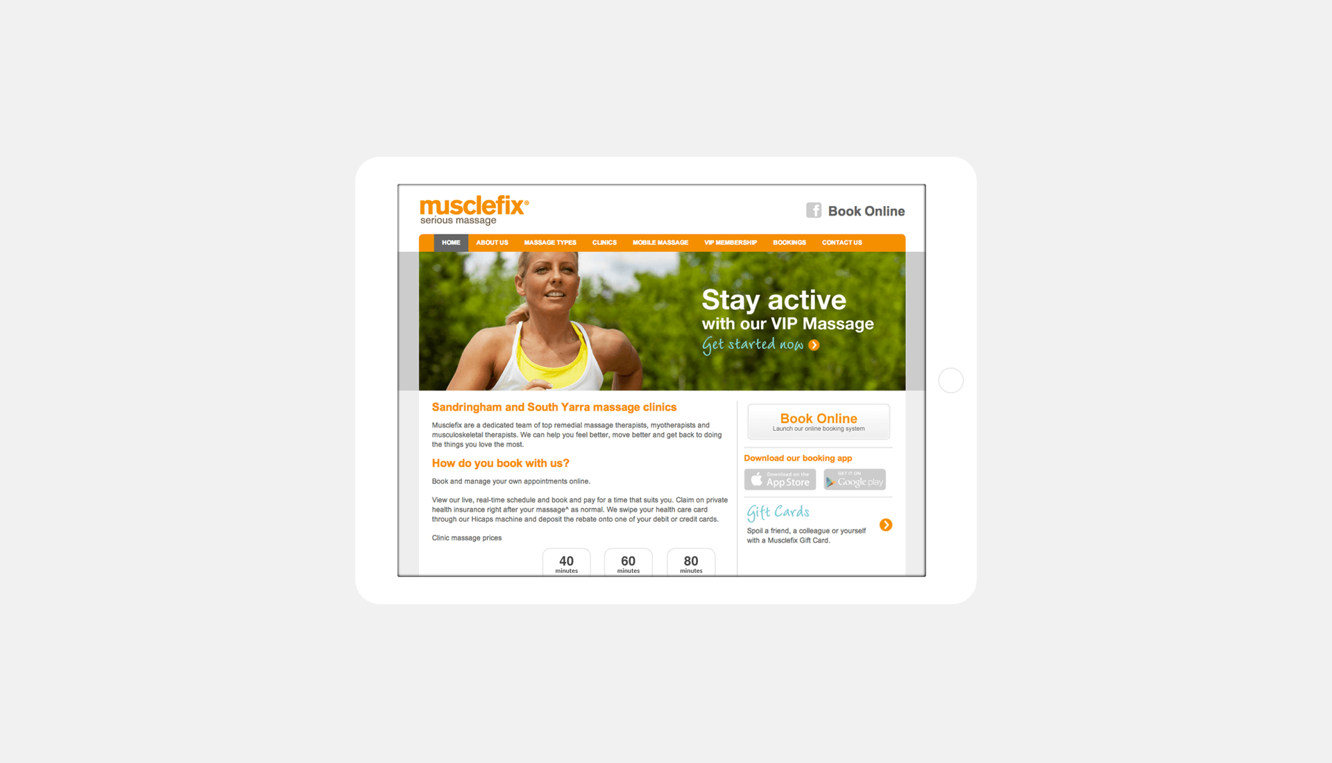 MUSCLEFIX WEBSITE
