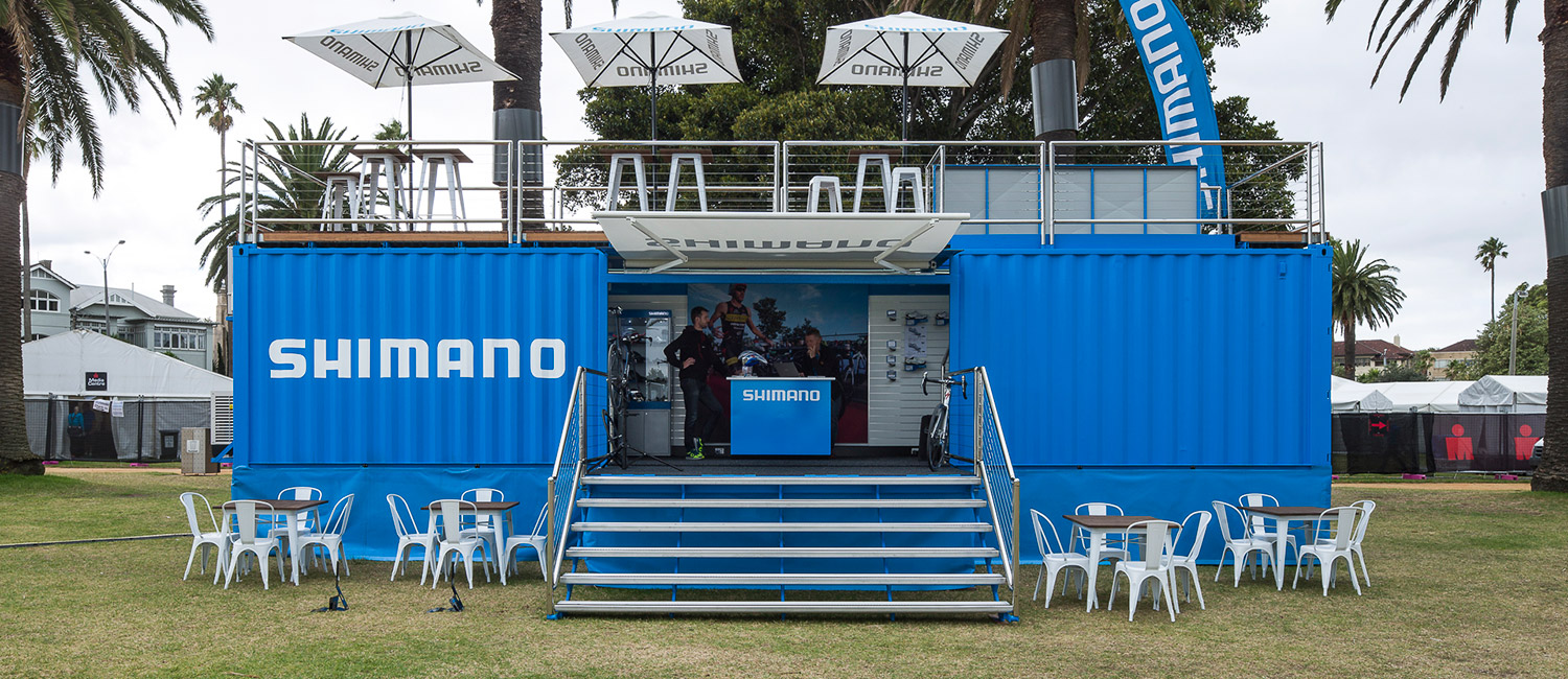 Shimano pop up shipping container
