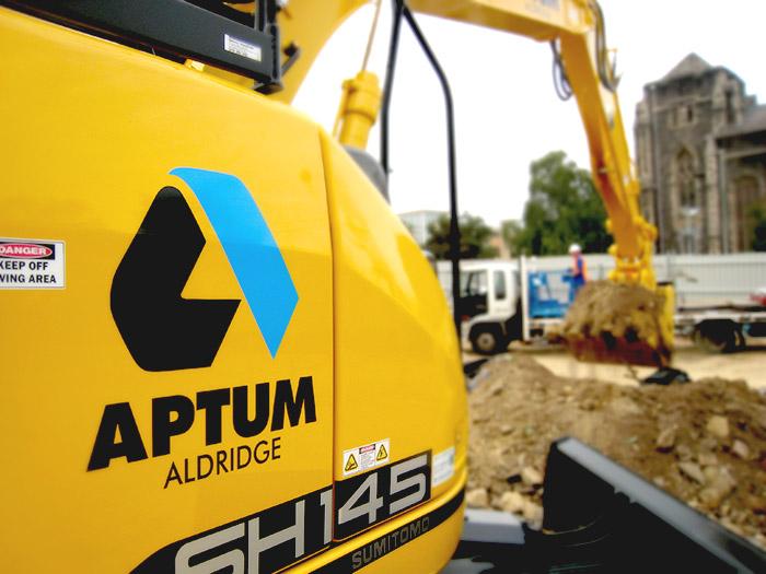 Aptum demolition and construction