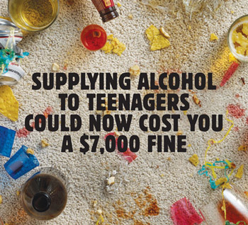 victoria health alcohol teenagers poster